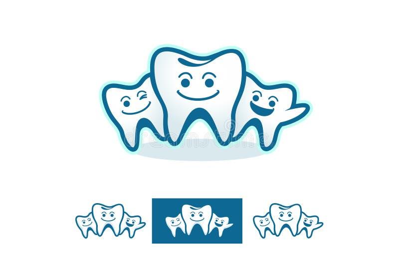 Οδοντική οικογένεια διανυσματική απεικόνιση