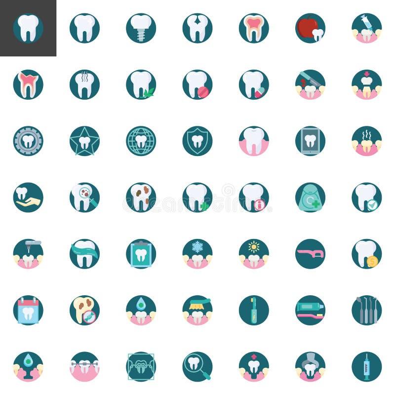 Οδοντική συλλογή στοιχείων προσοχής ελεύθερη απεικόνιση δικαιώματος