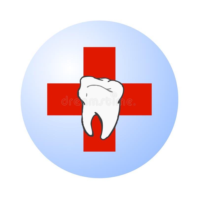 οδοντικό διάνυσμα λογότυπων προσοχής ελεύθερη απεικόνιση δικαιώματος