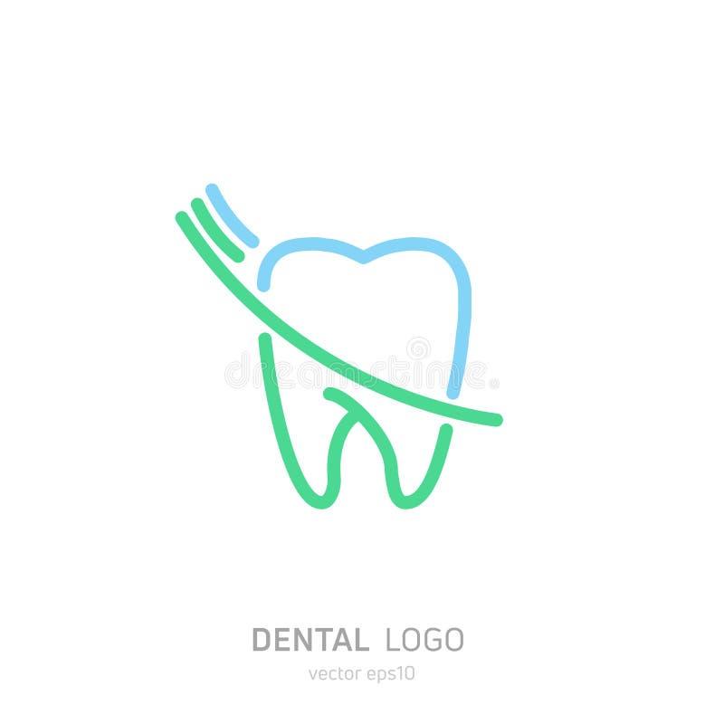 Οδοντικό λογότυπο κλινικών Θεραπεύει το εικονίδιο δοντιών Γραφείο οδοντιάτρων απεικόνιση αποθεμάτων