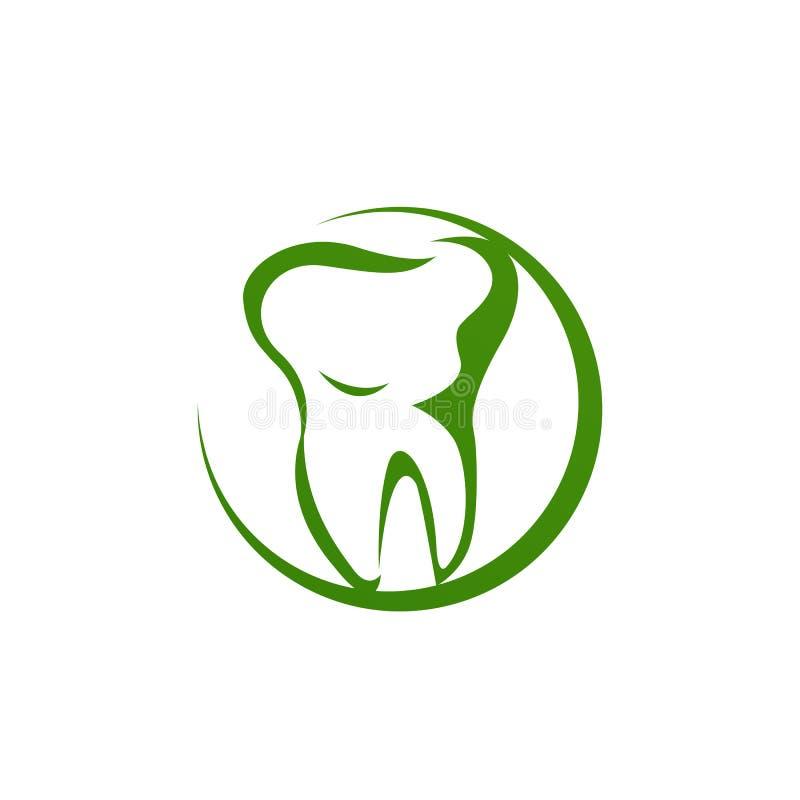 Οδοντικό λογότυπο κλινικών μοναδικός σύγχρονη επίδραση καθαρίστε εικονίδιο διάνυσμα απεικόνιση αποθεμάτων