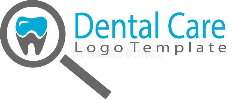 Οδοντικό λογότυπο προσοχής και προτύπων διανυσματική απεικόνιση