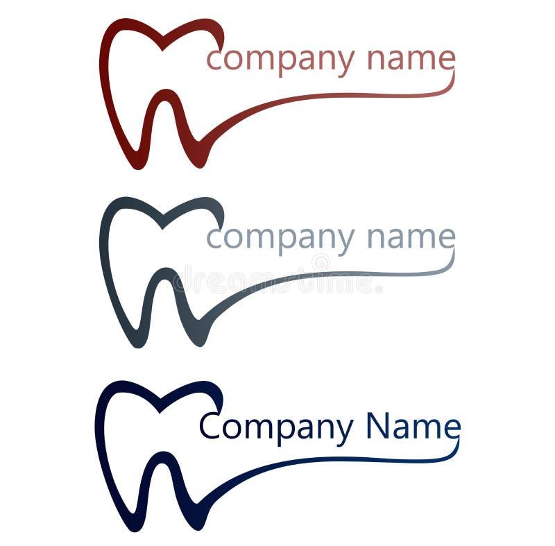 Οδοντικό λογότυπο διανυσματική απεικόνιση