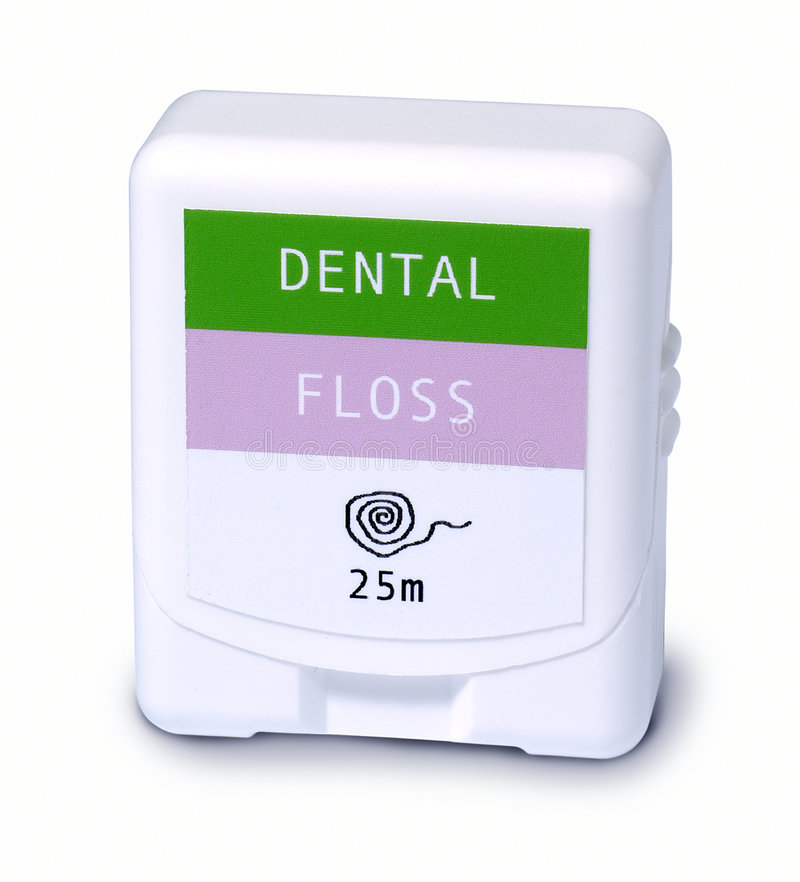 οδοντικό νήμα στοκ εικόνες