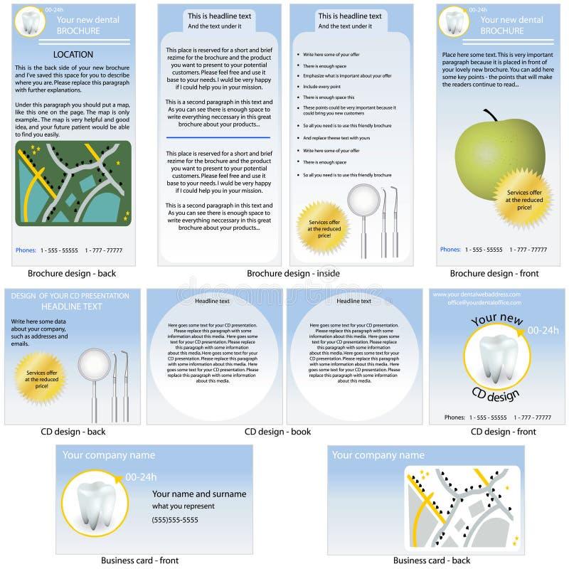 οδοντικό στάσιμο πρότυπο διανυσματική απεικόνιση