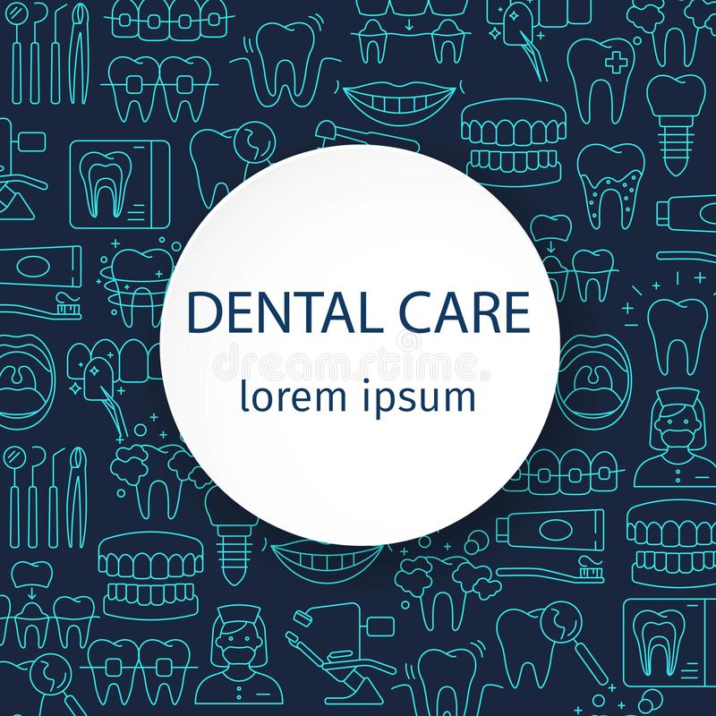 Οδοντικό σχέδιο προσοχής απεικόνιση αποθεμάτων