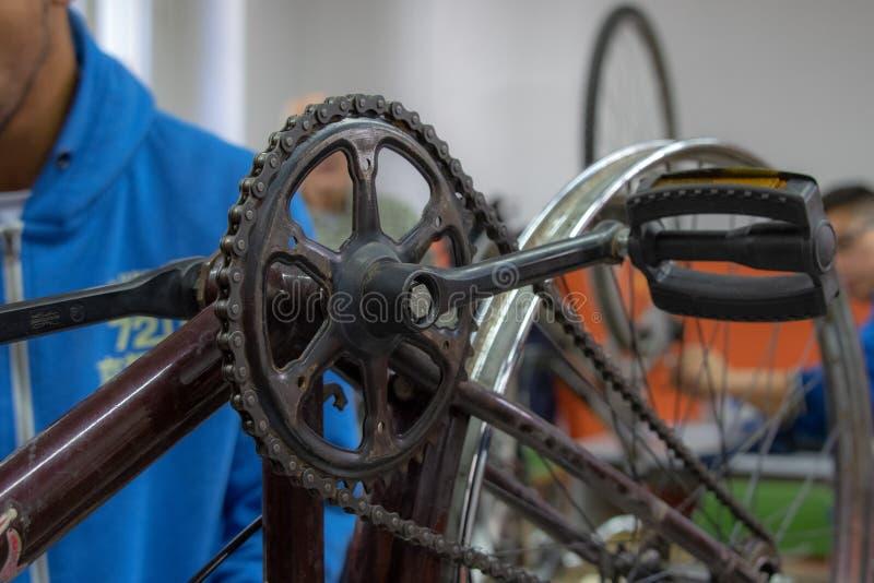 Οδοντωτή κορώνα ενός ποδηλάτου στοκ φωτογραφία με δικαίωμα ελεύθερης χρήσης