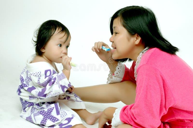 οδοντόβουρτσα διδασκ&alph στοκ εικόνα