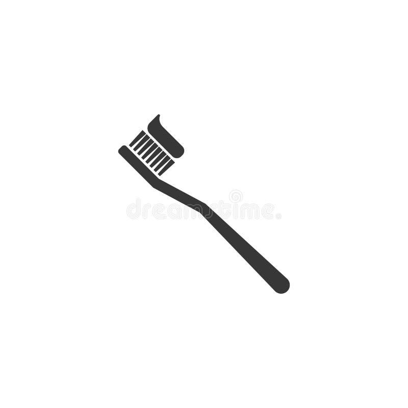 Οδοντόβουρτσα με την οδοντόπαστα διανυσματική απεικόνιση