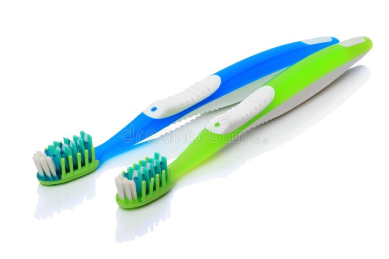 οδοντόβουρτσες δύο στοκ εικόνα με δικαίωμα ελεύθερης χρήσης