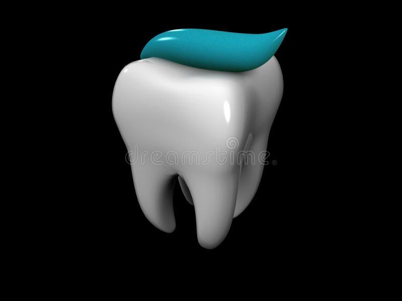 οδοντόπαστα δοντιών απεικόνιση αποθεμάτων