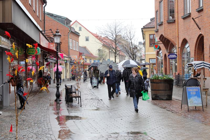 Οδός αγορών Ystad στοκ φωτογραφία με δικαίωμα ελεύθερης χρήσης