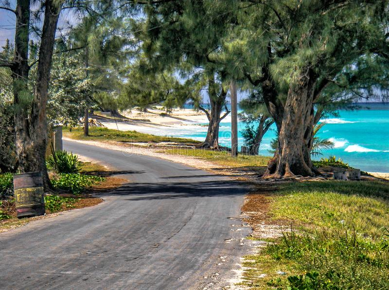 Οδός ακτής, Bimini Island στοκ φωτογραφία με δικαίωμα ελεύθερης χρήσης