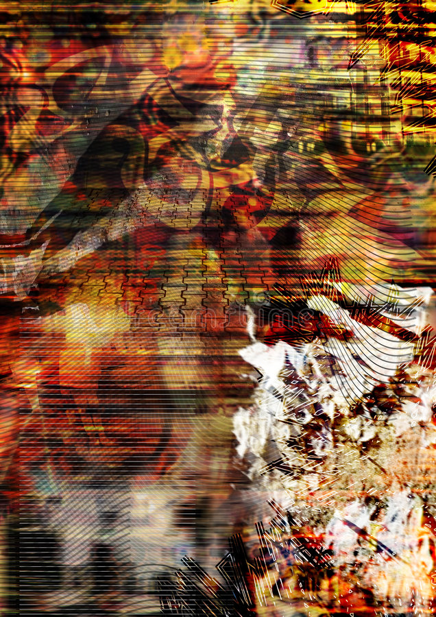 οδός ανασκόπησης τέχνης διανυσματική απεικόνιση