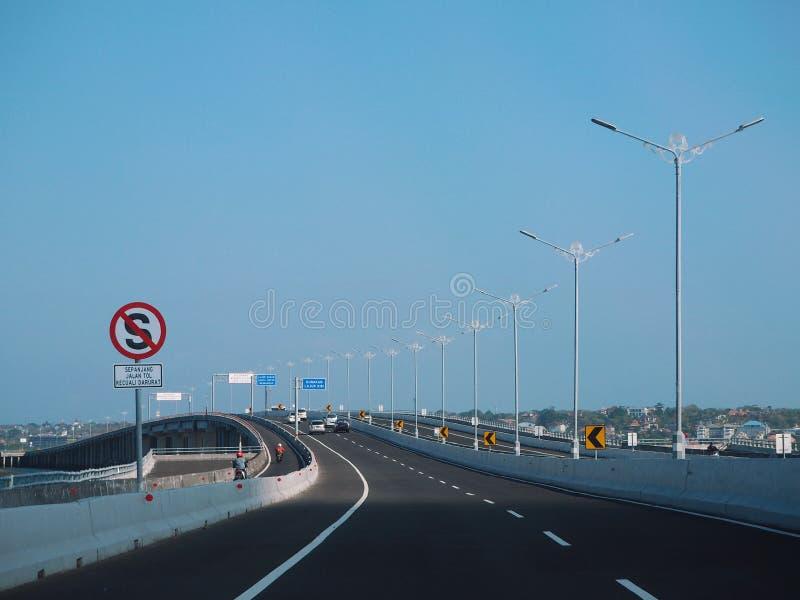 Οδός διοδίων Μπαλί Μαντάρα στοκ φωτογραφία με δικαίωμα ελεύθερης χρήσης
