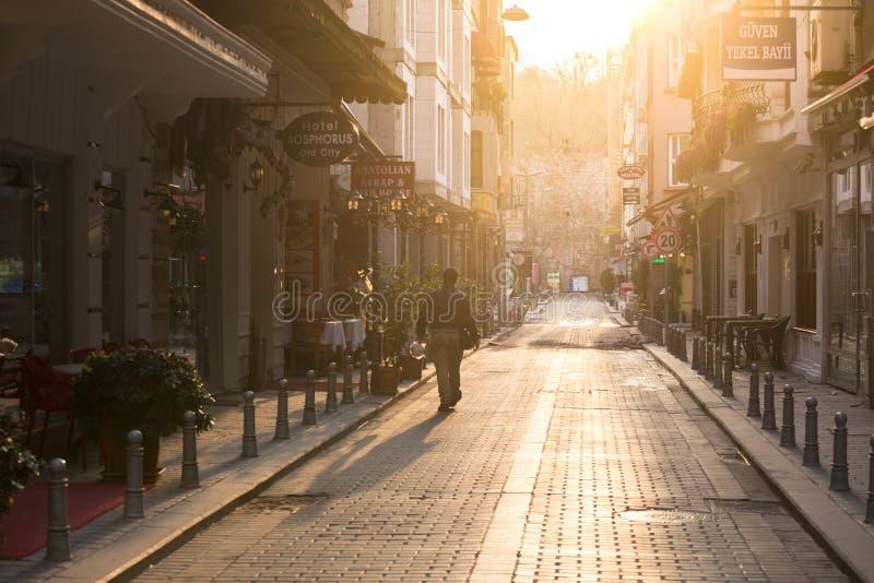 Οδός Ιστανμπούλ στα ξημερώματα στοκ φωτογραφία με δικαίωμα ελεύθερης χρήσης