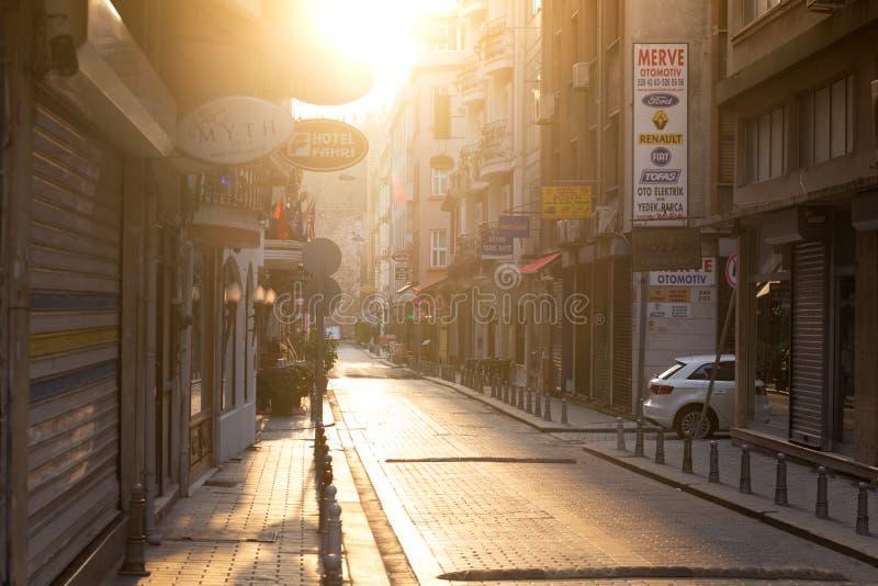 Οδός Ιστανμπούλ στα ξημερώματα στοκ εικόνα με δικαίωμα ελεύθερης χρήσης