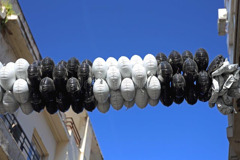 Οδός μπαλονιών στοκ εικόνα