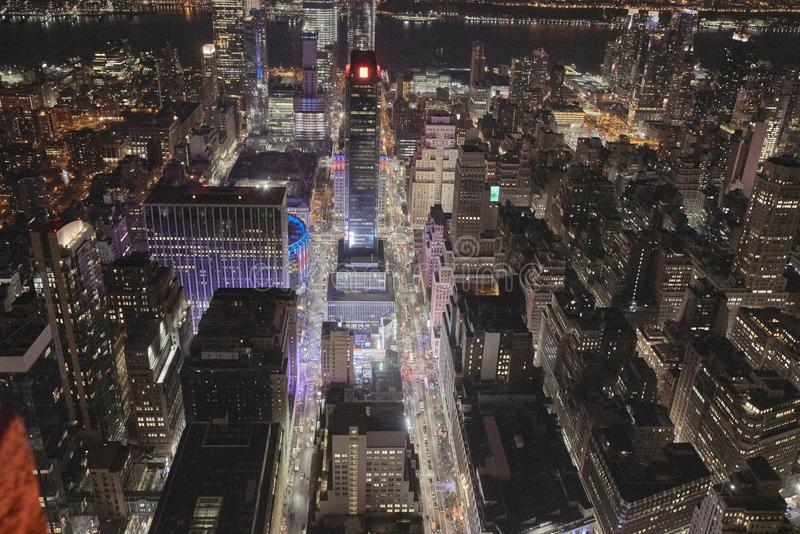 Οδός νύχτας στη Νέα Υόρκη στοκ φωτογραφίες με δικαίωμα ελεύθερης χρήσης