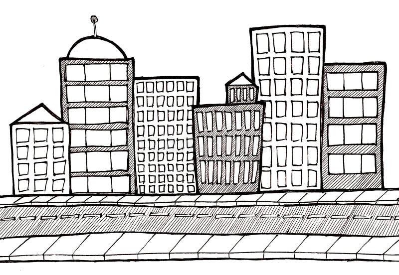 οδός πεζοδρομίων εικον&io απεικόνιση αποθεμάτων