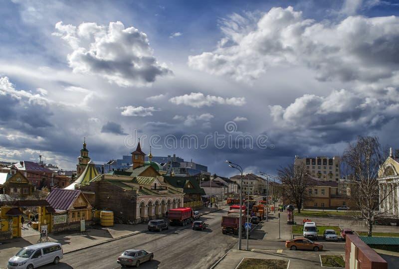 Οδός Πετρούπολη, Kazan στην Ταταρία στοκ εικόνες