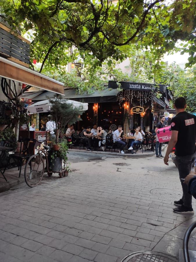 Οδός που διακοσμείται Τουρκία, Ιστανμπούλ, στοκ εικόνες με δικαίωμα ελεύθερης χρήσης