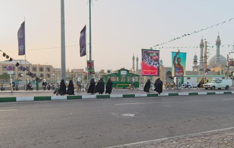 Οδός σε Qom, Ιράν στοκ εικόνα