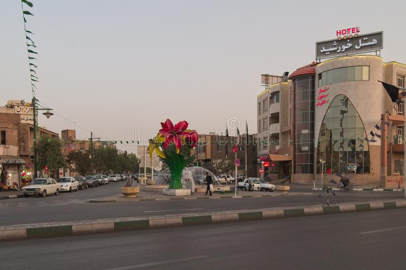 Οδός σε Qom, Ιράν στοκ φωτογραφίες με δικαίωμα ελεύθερης χρήσης