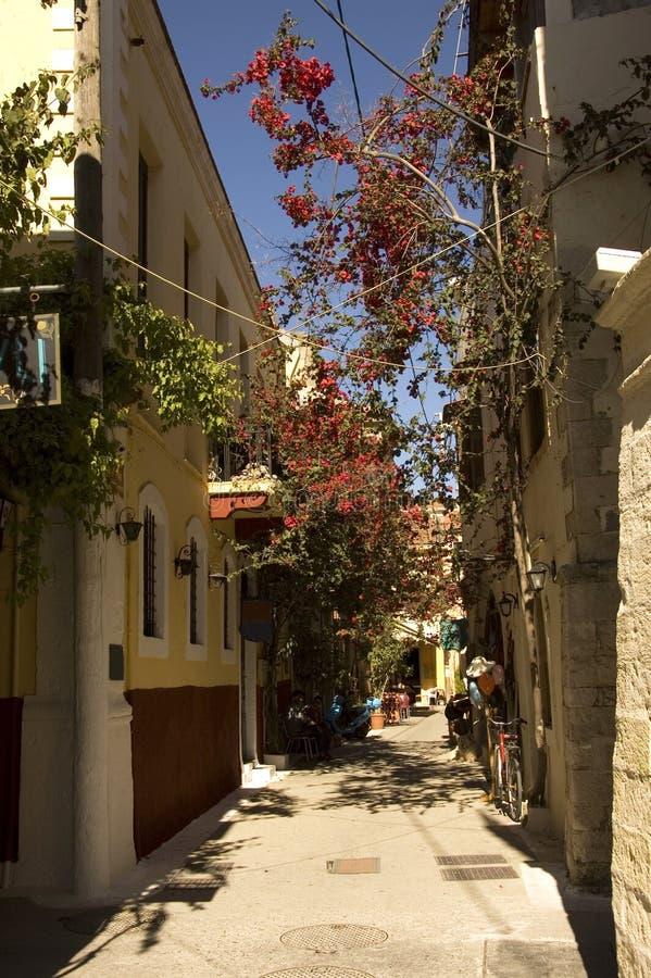 οδός σκηνής της Ελλάδας στοκ εικόνες