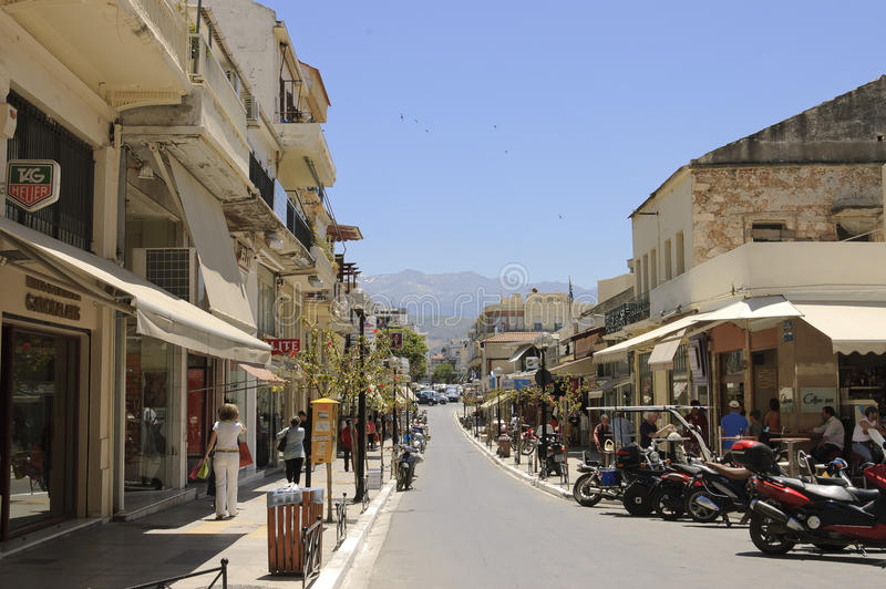 οδός σκηνής chania στοκ εικόνες