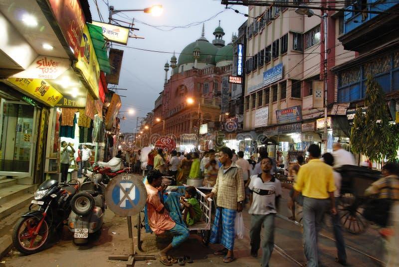 οδός σκηνής kolkata στοκ εικόνες