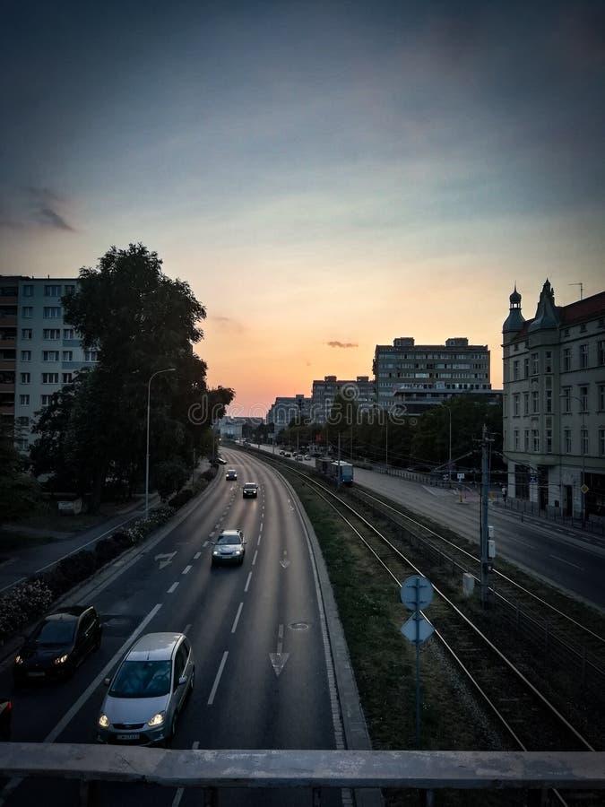 Οδός στην παλαιά πόλη, Wroclaw, Πολωνία στοκ εικόνες
