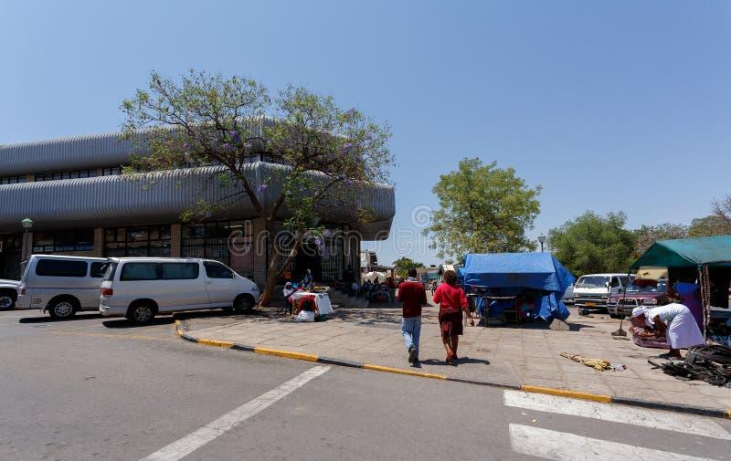 Οδός στην πόλη του Francis, Μποτσουάνα στοκ φωτογραφίες με δικαίωμα ελεύθερης χρήσης