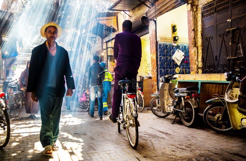 Οδός στο Μαρακές στοκ εικόνες με δικαίωμα ελεύθερης χρήσης