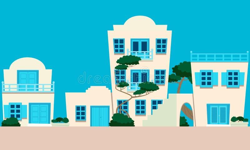 Οδός της ελληνικής πόλης απεικόνιση αποθεμάτων