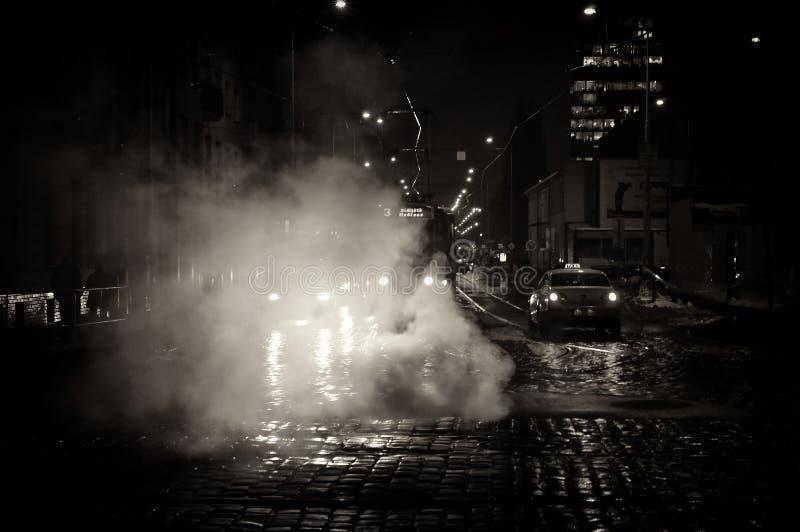 Οδός της Πράγας νύχτας στοκ φωτογραφία
