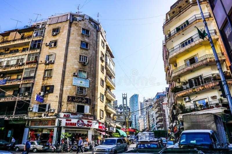 Οδός του Abdul Aziz δοχείων της Βηρυττού Ομάρ στοκ εικόνα