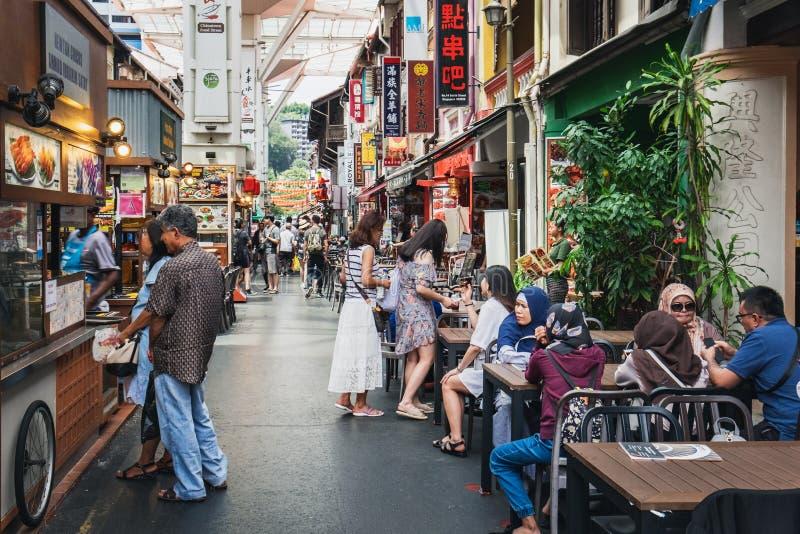 Οδός τροφίμων Chinatown στη Σιγκαπούρη στοκ εικόνα