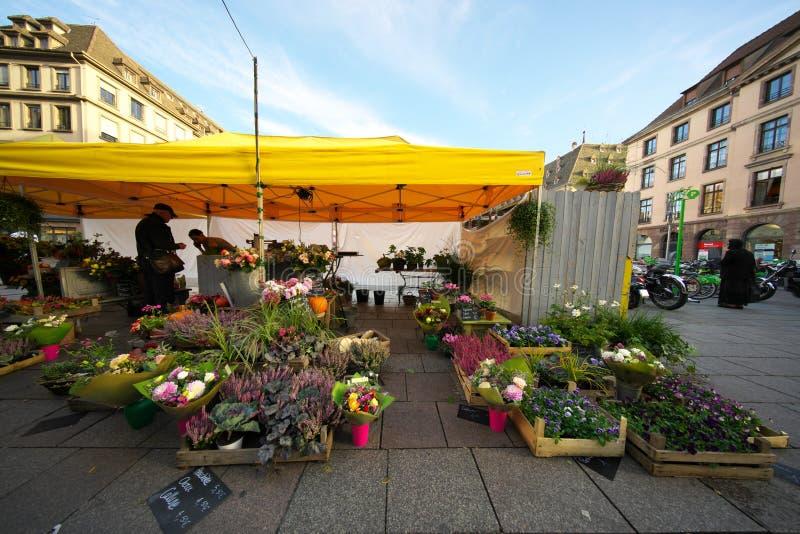 Οδός Arcades Grandes που συνδέει την πλατεία Kleber στο Στρασβούργο, Γαλλία στοκ φωτογραφία με δικαίωμα ελεύθερης χρήσης