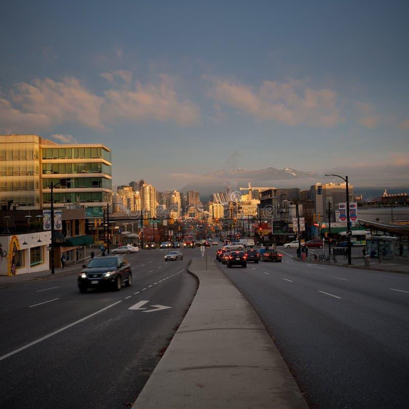 Οδός Cambie, Βανκούβερ στοκ φωτογραφία με δικαίωμα ελεύθερης χρήσης