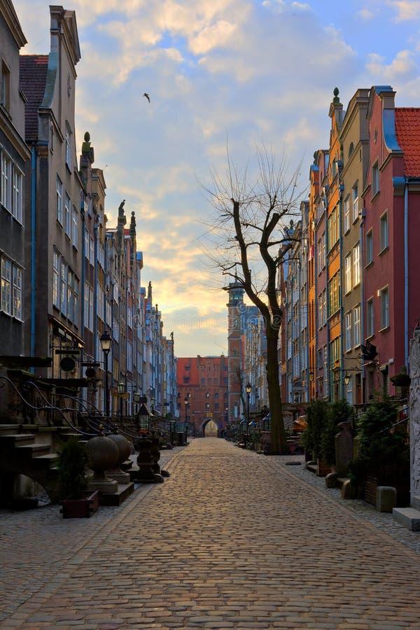 οδός mariacka του Γντανσκ στοκ φωτογραφία