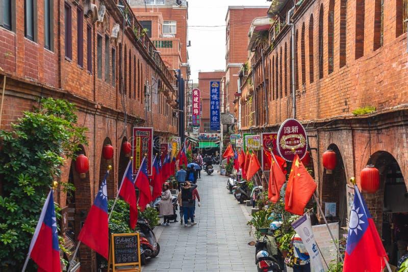 Οδός Mofan, όπου ο διοικητής Zheng Chenggong Koxinga δυναστείας Ming εκπαίδευσε τους σ στοκ εικόνα με δικαίωμα ελεύθερης χρήσης