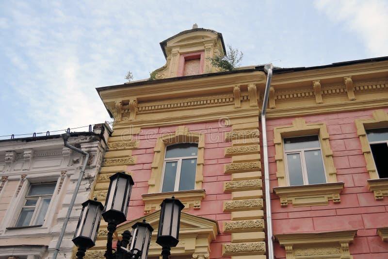 Οδός Pokrovskaya Bolshaya σε Nizhny Novgorod, Ρωσία στοκ φωτογραφίες