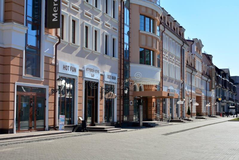 Οδός Zybickaya της ανώτερης πόλης Αυτό είναι η δημοφιλέστερη οδός με τα εστιατόρια και στοκ φωτογραφίες