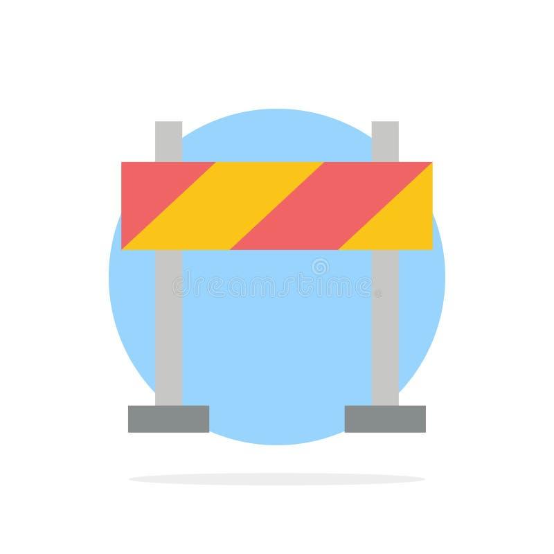 Οδόφραγμα, εμπόδιο, κατασκευής αφηρημένο κύκλων εικονίδιο χρώματος υποβάθρου επίπεδο απεικόνιση αποθεμάτων