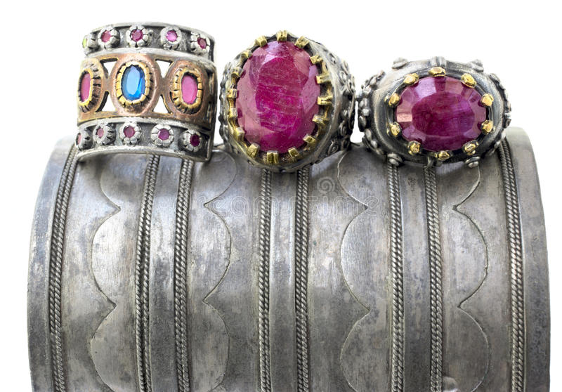 οθωμανικά δαχτυλίδια τρί&a στοκ εικόνες