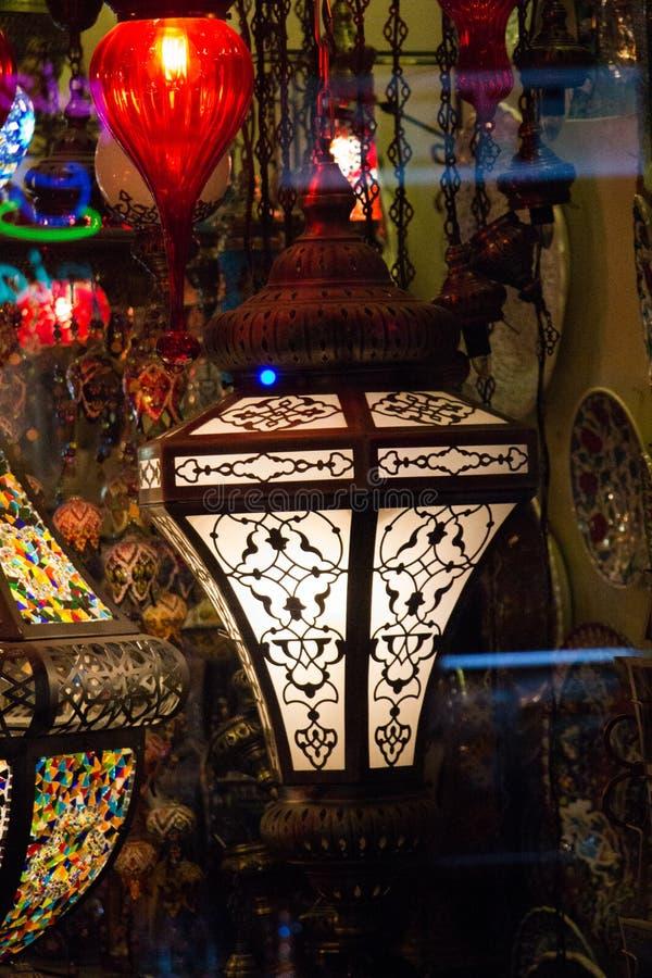 Οθωμανικοί λαμπτήρες μωσαϊκών από μεγάλο Bazaar διανυσματική απεικόνιση