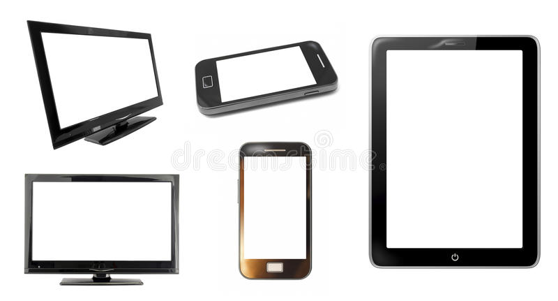 Οθόνες και smartphone οργάνων ελέγχου στοκ εικόνα