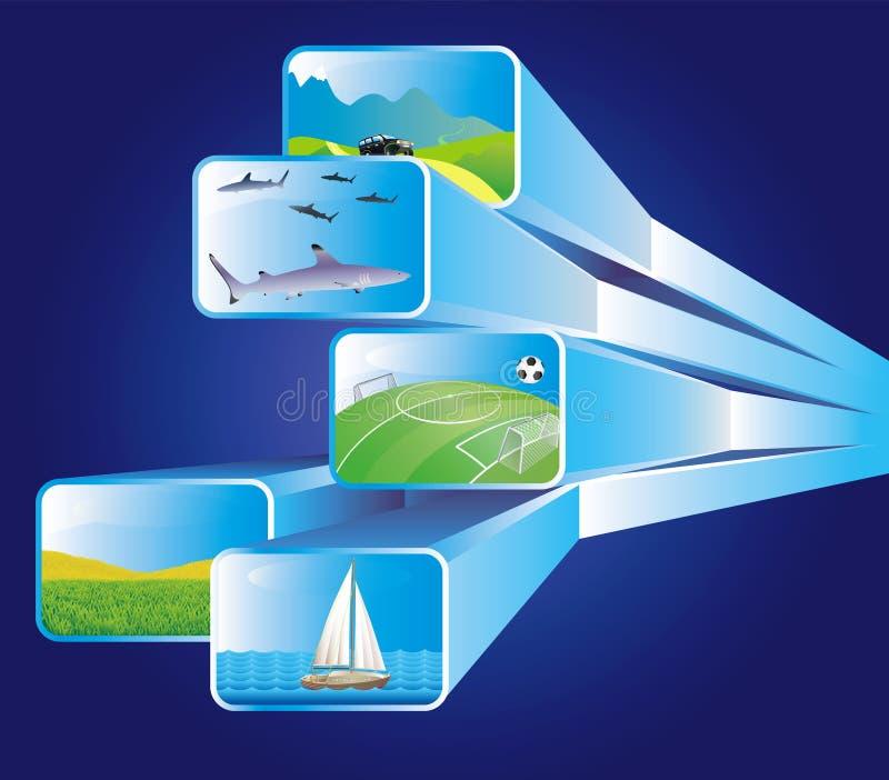 οθόνες μέσων απεικόνισης απεικόνιση αποθεμάτων