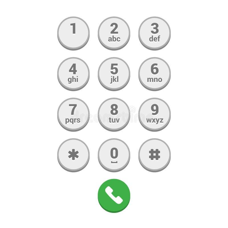 Οθόνη αριθμητικών πληκτρολογίων πινάκων Smartphone στο άσπρο υπόβαθρο r ελεύθερη απεικόνιση δικαιώματος